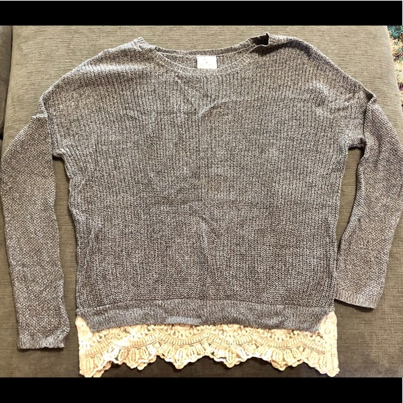 Pins & Needles Sweaters - Urban Outfitters Pins & Needles Lace Sweater med